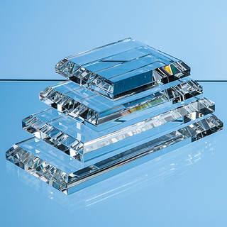 15cm x 7.5cm Clear Glass Base