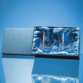 2pc 300ml Blenheim Lead Crystal Full Cut Whisky Tumbler Gift Set