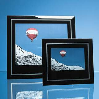 Black Surround with Silver Inlay Glass Frame for 10inchinch x 8inchinch Landscape Photo