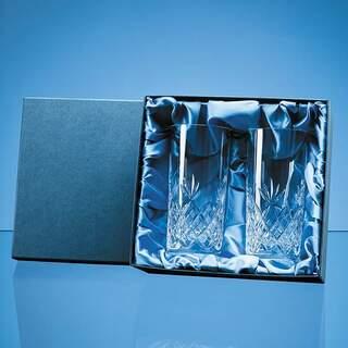 2pc 360ml Blenheim Lead Crystal Full Cut High Ball Gift Set