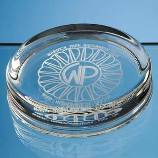 9cm Round Glass Paperweight