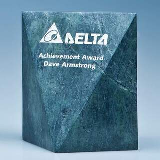 15cm Green Marble Glacier Award