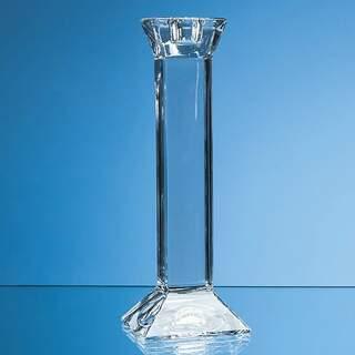 20cm Lead Crystal Padova Candlestick Holder