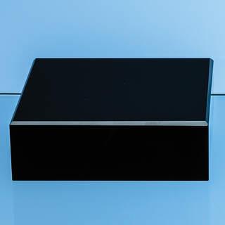 10cm Onyx Black Optical Crystal Square Base