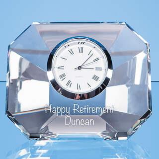 8.5cm Optical Crystal Wedge Clock