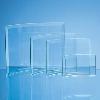 12.5cm x 16cm x 5mm Jade Glass Bevelled Crescent