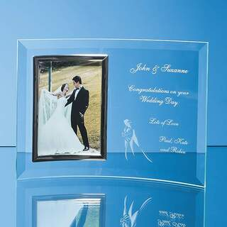 Bevelled Glass Crescent Frame for 4inchinch x 6inchinch Portrait Photo